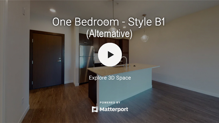 One Bedroom - Style B1 (Alternative)